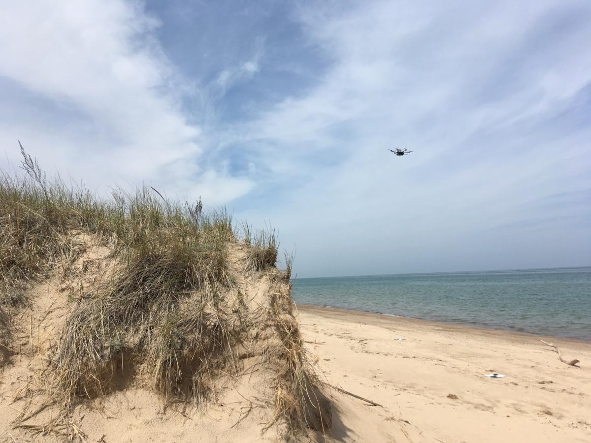 UAV LiDAR beach survey