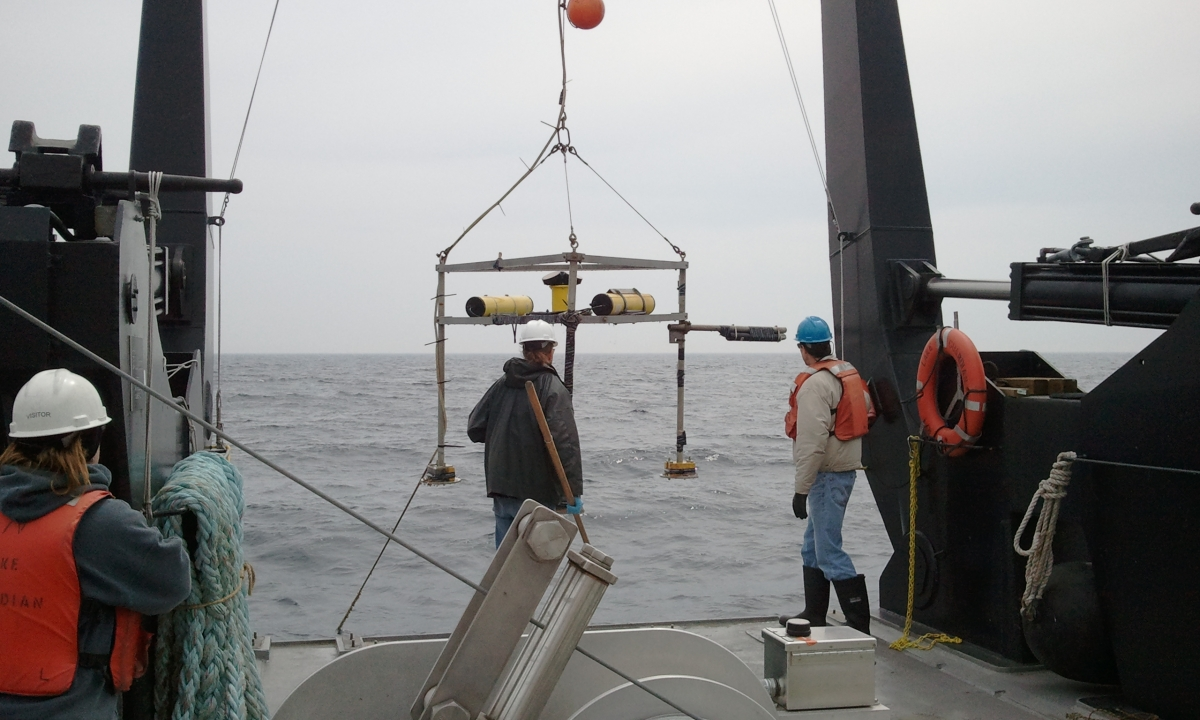 Large instrumented tripod