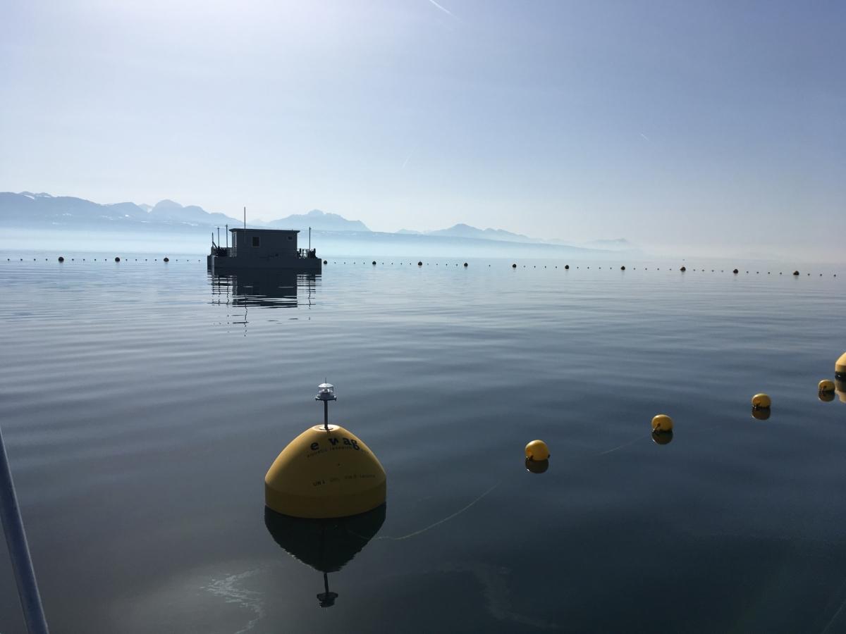 L'Explore platform on Lake Geneva