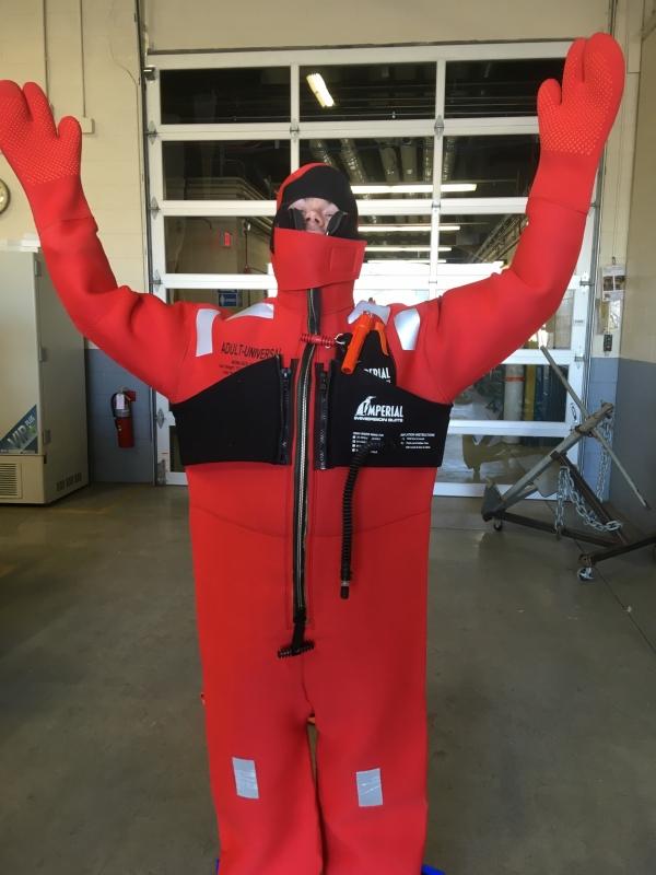 Survival suit test